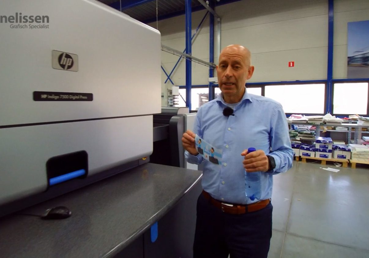 waterflesje bedrukken, ed cornelissen hp indigo printer